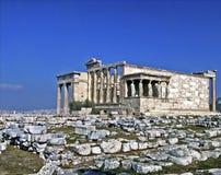 Erechtheion, acrópolis foto de archivo libre de regalías