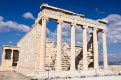 Erechtheion. Acrópolis de Atheens Fotografía de archivo libre de regalías