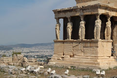 Erechtheion,  The Acropolis of Athens Stock Photo