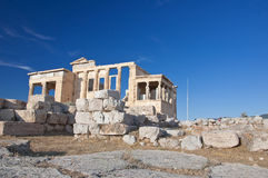 The Erechtheion on Acropolis of Athens in Greece. Royalty Free Stock Image