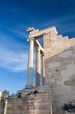 The Erechtheion on Acropolis of Athens in Greece. Stock Photo