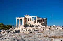 The Erechtheion on Acropolis of Athens in Greece. Royalty Free Stock Photo