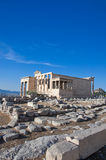 The Erechtheion on Acropolis of Athens in Greece. Stock Photography