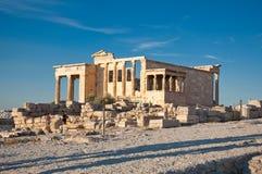 The Erechtheion on Acropolis of Athens. Greece. Royalty Free Stock Image