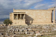 Erechtheion Acropolis. Cariathides of the erechtheion acropolis, Athens Stock Images