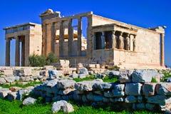 Erechtheion, akropol, Ateny, Grecja w dniu Fotografia Royalty Free