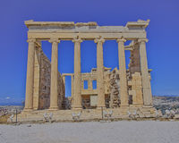 Erechtheion ancient temple, Athens Greece Stock Photography
