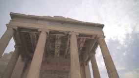 Erechtheion antiguo almacen de metraje de vídeo
