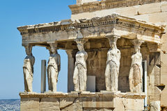 Erechtheion, Atenas fotos de stock royalty free