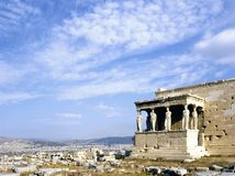 Erechtheion, Atene fotografia stock