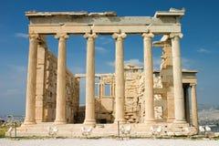 Erechtheion, Athènes. Images libres de droits