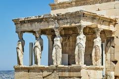 Erechtheion, Athene Royalty-vrije Stock Foto's