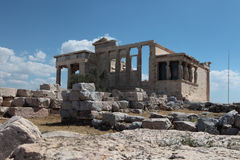 Erechtheion. Athene, Griekenland. Stock Afbeelding