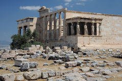 Erechtheion in Athens Stock Photo