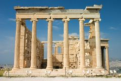 Erechtheion, Athens. Royalty Free Stock Images
