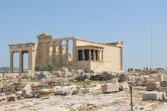Erechtheion avec le panorama de l'Acropole photo stock