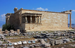 Erechtheion building on top of the Acropole, in Athens, Greece Stock Image