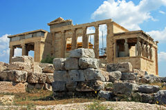 Erechtheion building on top of the Acropole, in Athens, Greece Stock Photography