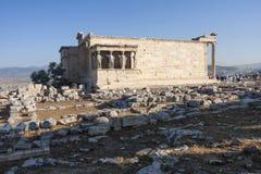 Erechtheion do templo de Erechtheum Imagem de Stock