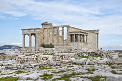 Erechtheion (Erechtheum). Acropolis of Athens. The Erechtheion is an ancient Greek temple on the north side of the Acropolis of Athens in Greece which was Royalty Free Stock Photography