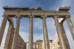 The Erechtheion or Erechtheum. Acropolis, Athens, Greece Royalty Free Stock Image