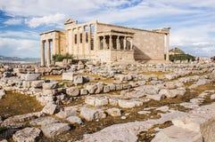 Erechtheion (Erechtheum) in Acropolis Stock Images