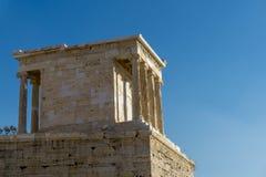 Erechtheion of Erechtheum zijn een oude Griekse tempel op de Akropolis van Athene in Griekenland Stock Foto's