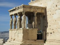 Monument in Greece royalty free stock photo