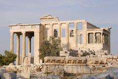 Erechtheion - parte de acrópolis en Atenas Imágenes de archivo libres de regalías