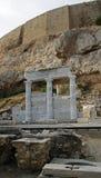 Erechtheion - parte de acrópolis en Atenas Imagen de archivo libre de regalías