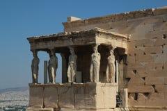 Erechtheion Parthenon, tempel av Athena, Grekland, Aten royaltyfri foto