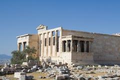 Erechtheion Ruinen auf Akropolise Lizenzfreies Stockbild