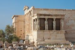 Erechtheion Tempel, Akropolis stockfoto