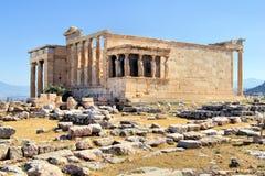 Erechtheion: tempiale antico, Atene fotografie stock libere da diritti
