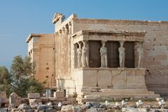 Erechtheion temple, Acropolis Stock Photo