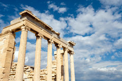 Erechtheion temple Acropolis in Athens Stock Photography