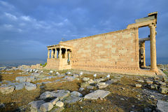 Erechtheion temple Acropolis in Athens Royalty Free Stock Photo