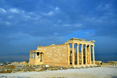 Erechtheion temple Acropolis in Athens. Erechteion, Parthenon on the Acropolis in Athens, Greece Stock Image