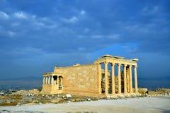 Erechtheion temple Acropolis in Athens Stock Image