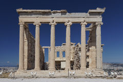 Erechtheion temple, Acropolis of Athens Royalty Free Stock Photos