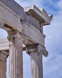 Erechtheion temple, acropolis of Athens, Greece Stock Photography