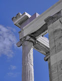 Erechtheion temple, acropolis of Athens, Greece Royalty Free Stock Photography