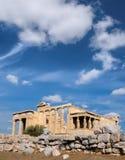 Erechtheion temple Acropolis, Athens, Greece, with famous Caryat Royalty Free Stock Photos