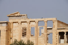 Erechtheion temple  on the Acropolis hill, Athens, Greece Stock Photography
