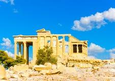 Erechtheion temple of Acropolis Stock Photos