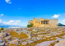 Erechtheion temple of Acropolis Stock Image