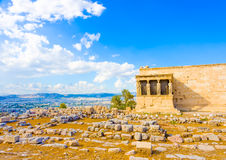 Erechtheion temple of Acropolis Royalty Free Stock Photos