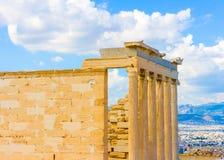 Erechtheion temple of Acropolis Stock Photo