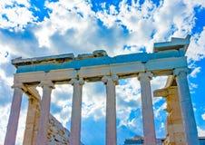 Erechtheion temple of Acropolis Stock Photography