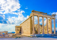 Erechtheion temple of Acropolis Royalty Free Stock Image
